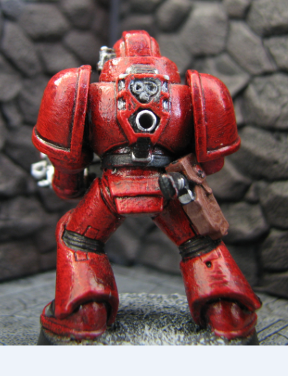 Laughing Jackal Space Marine back view